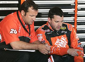 Tony Stewart and Greg Zippadelli