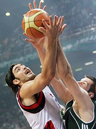 Luis Scola and Sani Becirovic