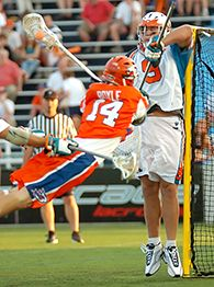 Major league lacrosse ryan boyle was one of two players with over 40