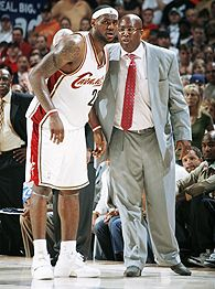 LeBron James and Mike Brown