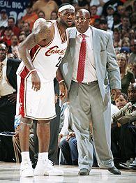 LeBron James and Mike Brown