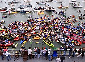 Boats in McCovey Cove