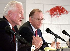 Frank Broyles and John White