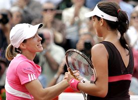 Justine Henin and Ana Ivanaovic