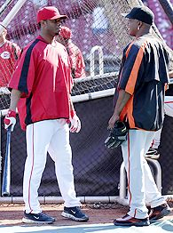 Ken Griffey jr and Barry Bonds