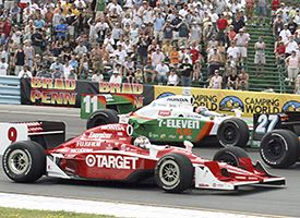 Dario Franchitti (27) of Scotland, Scott Dixon (9)