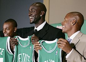 Kevin Garnett and Ray Allen