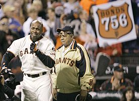 Barry Bonds and Willie Mays
