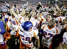 Boise State players