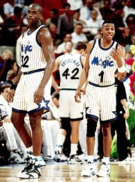 Anfernee Hardaway and Shaquille O'Neal