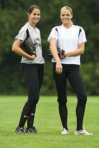 Cat Osterman and Jennie Finch