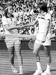 John McEnroe, left, and Jimmy Connors
