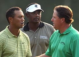 Tiger Woods,Vijay Singh and Phil Mickelson