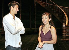 Novak Djokovic and Natalie Dessay