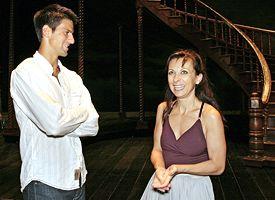 Novak Djokovic and Natalie Dessay