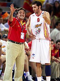 Pepu Hernandez and Rudy Fernandez