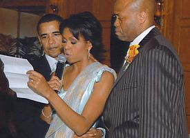 Barack Obama, Michelle Obama and Craig Robinson