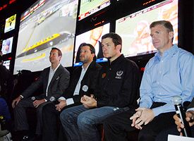 Kurt Busch, Tony Stewart, Martin Truex Jr. and Jeff Burton
