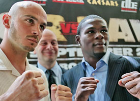Kelly Pavlik and Jermain Taylor