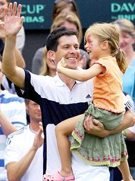 Tim Henman and Rosie