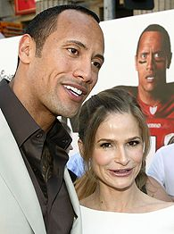 The Rock and Kyra Sedgwick