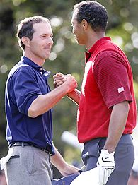 Mike Weir and Tiger Woods