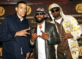 Matt Barnes, Baron Davis and Stephen Jackson