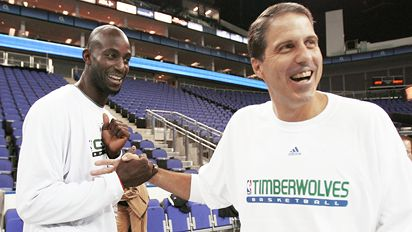 Kevin Garnett and Randy Wittman