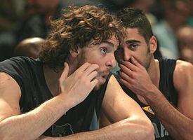 Pau Gasol and Juan Carlos Navarro