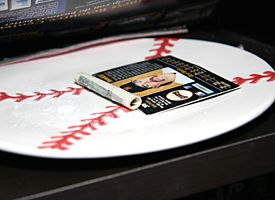 House Baseball Plate Card