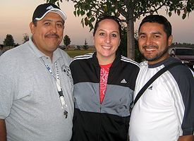 Sequoia Gateway coach Pedro Gonzalez and directors Amalia and Marvin Lopez.