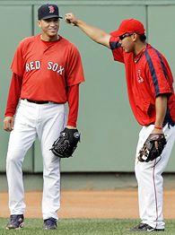 Daisuke Matsuzaka, right, and Julian Tavarez