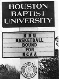 Houston Baptist marquee