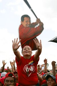 Hugo Chavez supporter