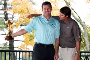 Nick Faldo and Paul Azinger