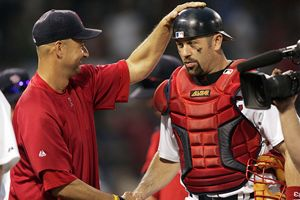 Terry Francona and Jason Varitek