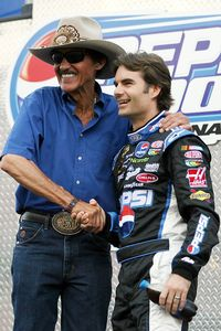 Richard Petty and Jeff Gordon
