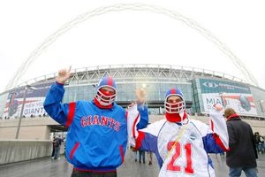 Giants fans outside Wembley Stadium