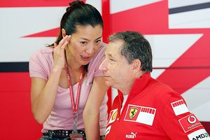 Michelle Yeo and Jean Todt