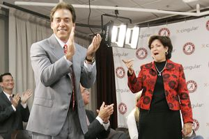 Nick Saban and Terry Saban