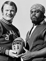 Barry Switzer and Thomas Lott