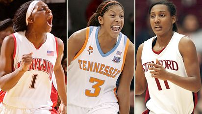 Crystal Langhorne, Candace Parker & Candice Wiggins