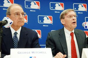 George Mitchell and Bud Selig