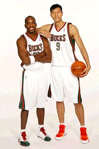 Michael Redd and Yi Jianlian