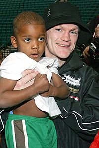 Ricky Hatton and Lehkei Mayweather