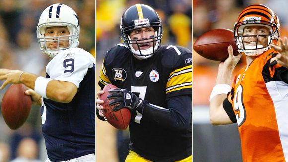 Romo, Roethlisberger, and Palmer