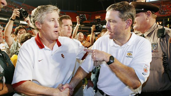 Pete Carroll and Kirk Ferentz