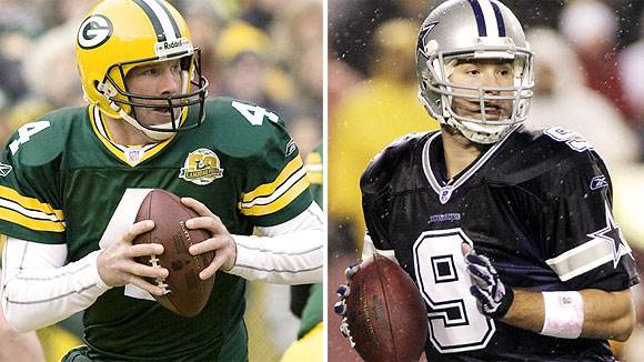 Brett Favre and Tony Romo