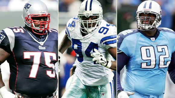 Albert Haynesworth, Vince Wilfork and DeMarcus Ware
