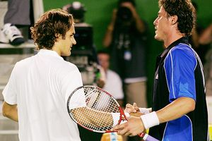 Roger Federer and Marat Safin